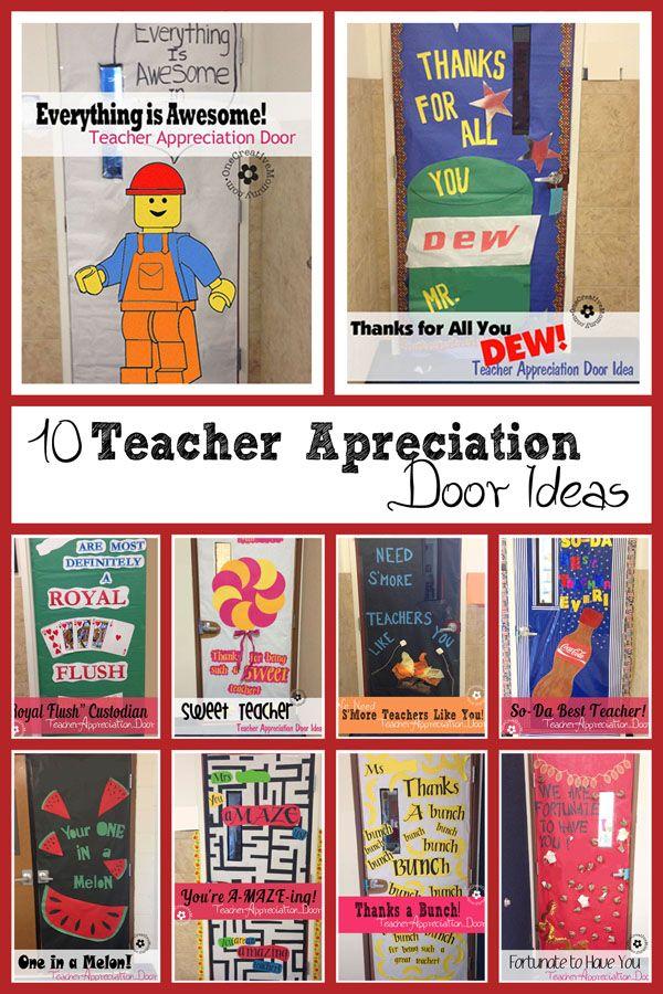 Teacher Appreciation Ideas for Door Decorating | Appreciation ...