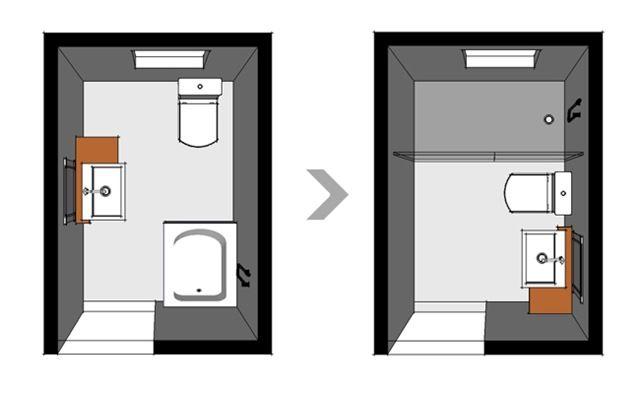 Resultado de imagen para baños pequeños planos medidas BAÑOS