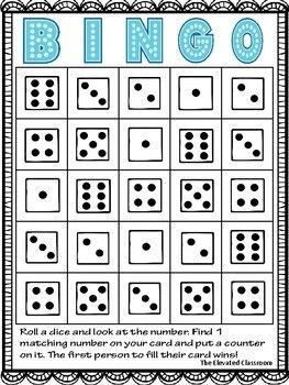 Roll A Dice Math Bingo Dice Math Games Math Bingo Math Games For Kids