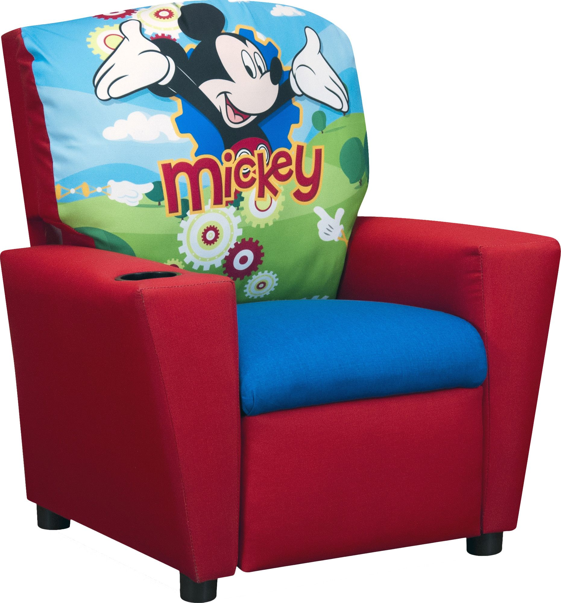 Disneys mickey mouse clubhouse kids cotton recliner chair