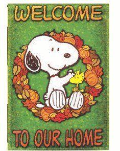 Amazon Com Welcome To Our Home Snoopy Garden Flag 12 X18 Outdoor Flags Banners Patio Lawn Garden Snoopy Outdoor Flags Garden Flags