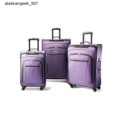 Travel Luggage Set Purple Spinner Suitcase Carry Plane Cruise American Tourist #AmericanTourister #TravelLuggageSetPurpleSpinnerSuitcase