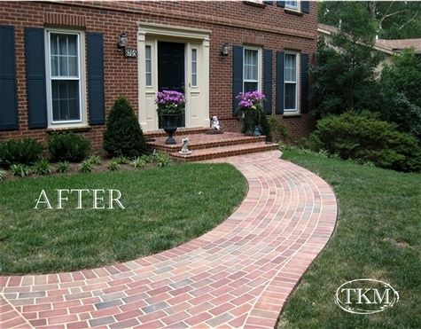 After Brick Porch Front Walk Porch Landscaping Brick Porch Landscaping Entryway