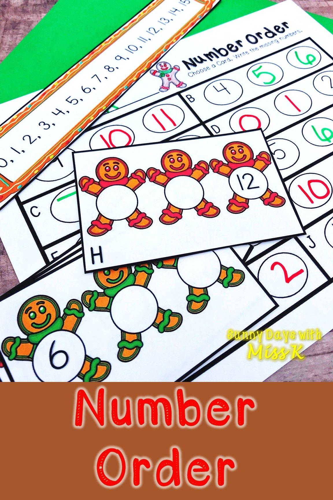 Kindergarten Gingerbread Math Center