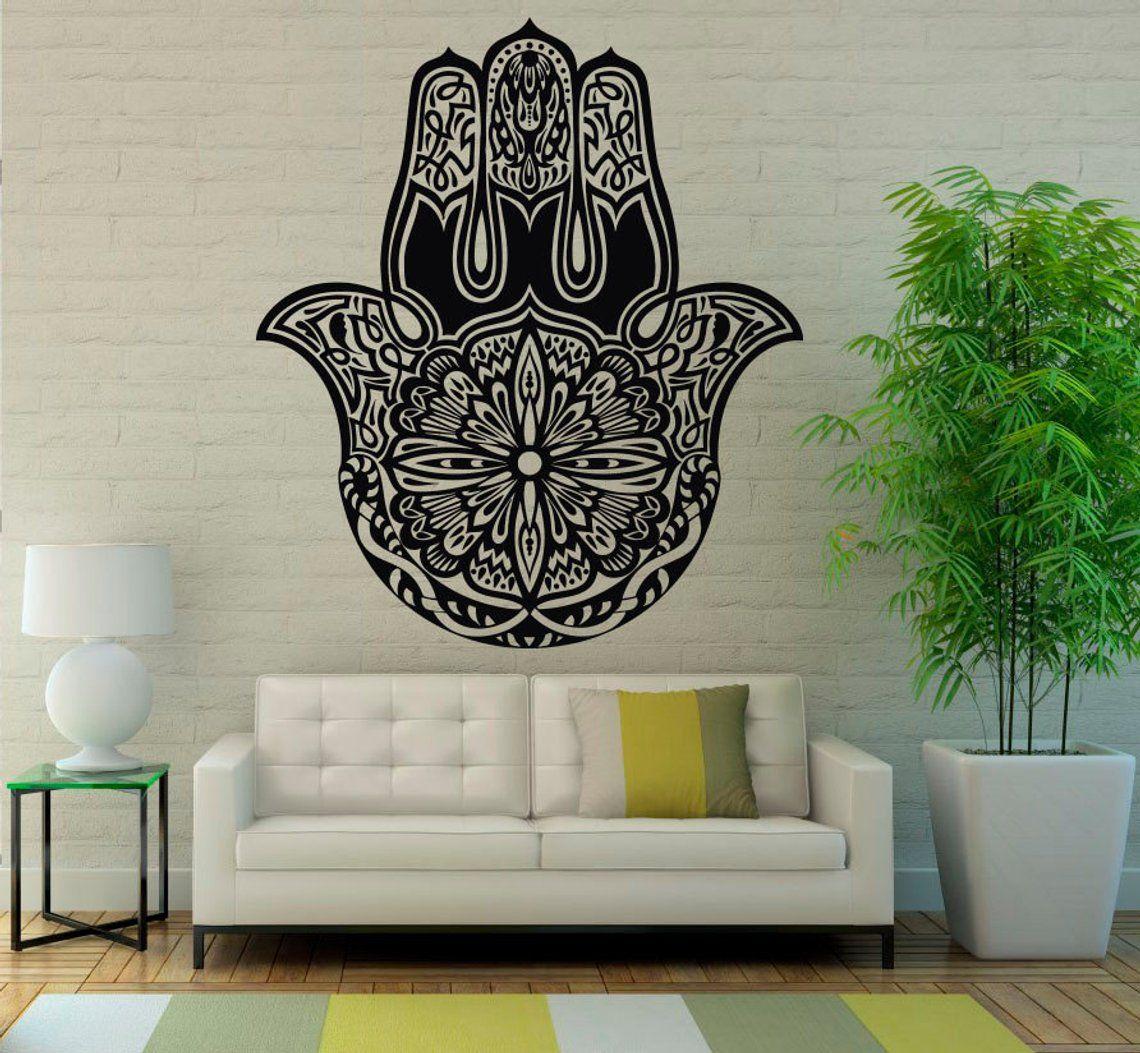 Hamsa Hand Wall Vinyl Decal Sticker Meditates Patterns