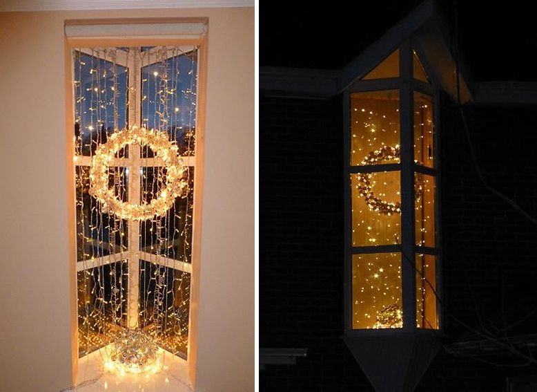 how to hang christmas lights in windows