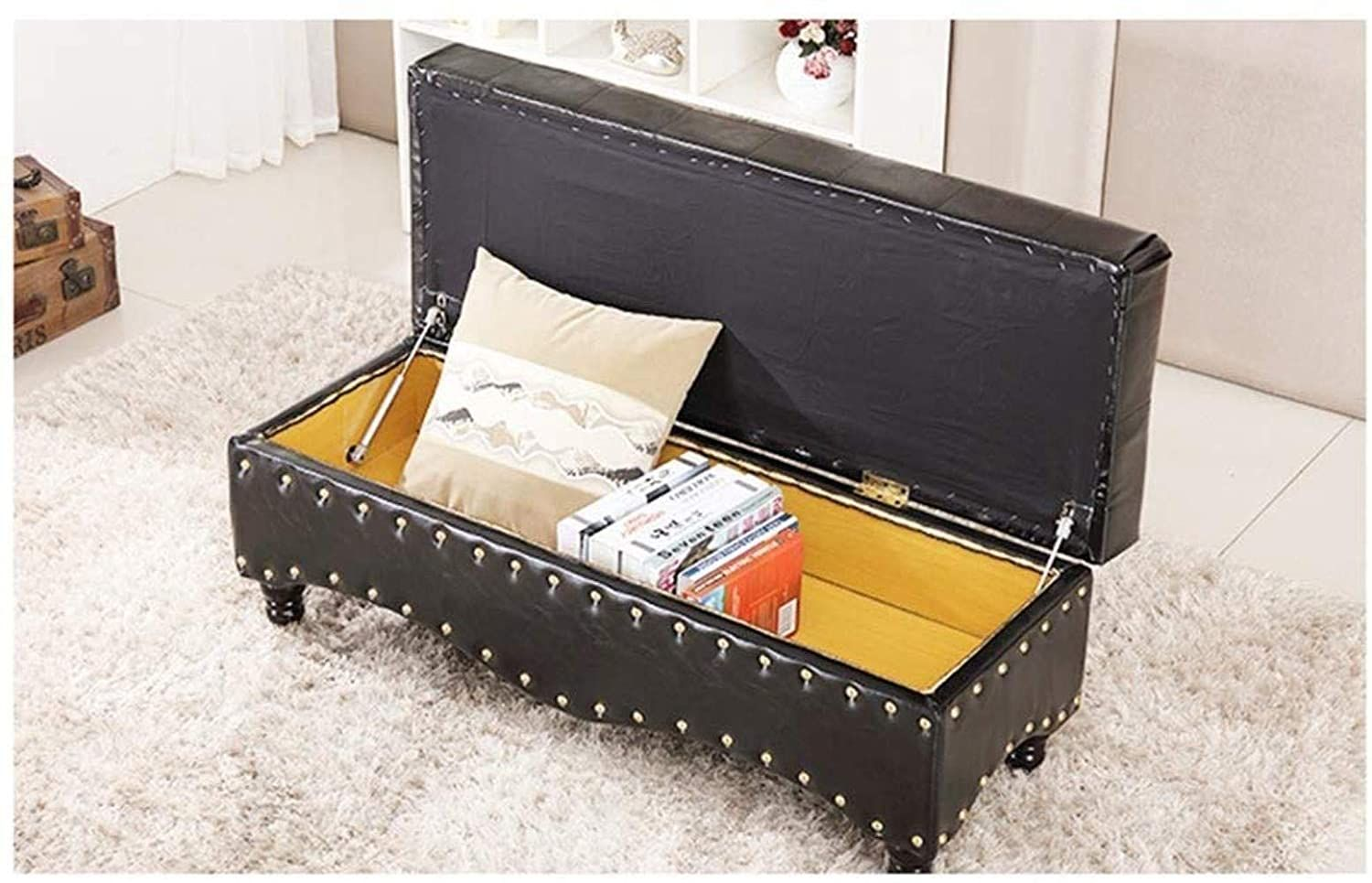 Thbeibei Storage Benches Storage Ottoman Bench Hallway Entryway Shoe Bench Storage Bench Pouffe Footstoo In 2020 Storage Ottoman Bench Entryway Shoe Bench With Storage