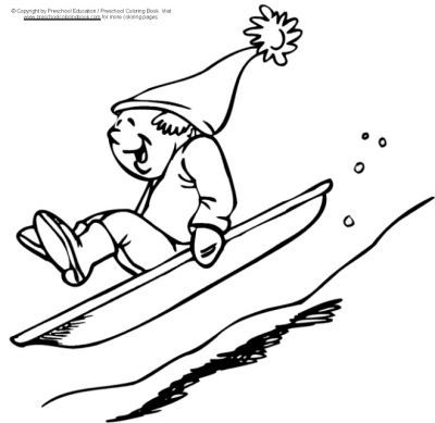 winter sledding coloring pages - Google Search | Coloring ...