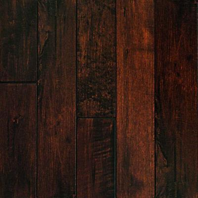 Millstead Hand Scraped Maple Chocolate 34 In Thick X 3 14 In