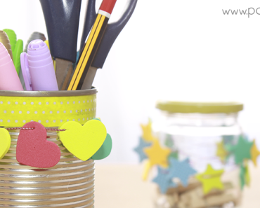 Decorar latas y botes de cristal How to decorate cans and jars