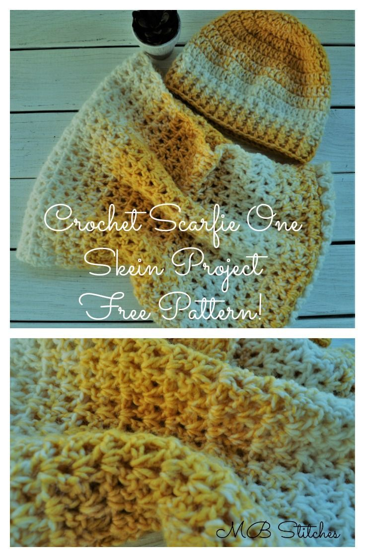 Scarfie crochet hat and cowl - free pattern. Follow me for free ...