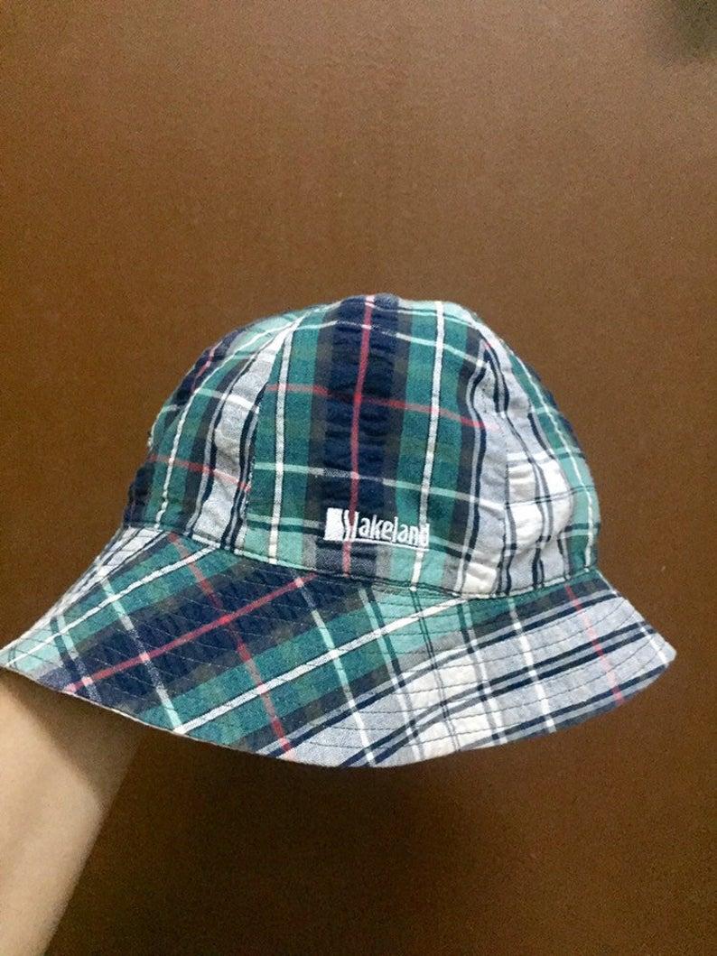 Bucket Hat Lakeland Medium Size Colourfull Green Etsy Bucket Hat Medium Size Medium