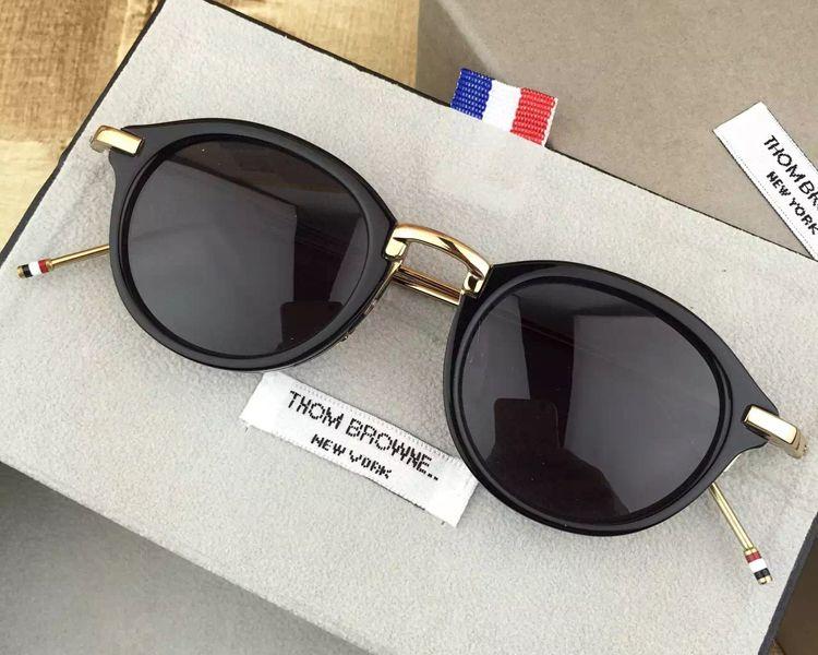 d3f50babae8 2018 Thom Vintage Round Sunglasses Men Women TB-011 High Quality Sun  Glasses Polarized Zonnebril Mannen Dames With Original Case
