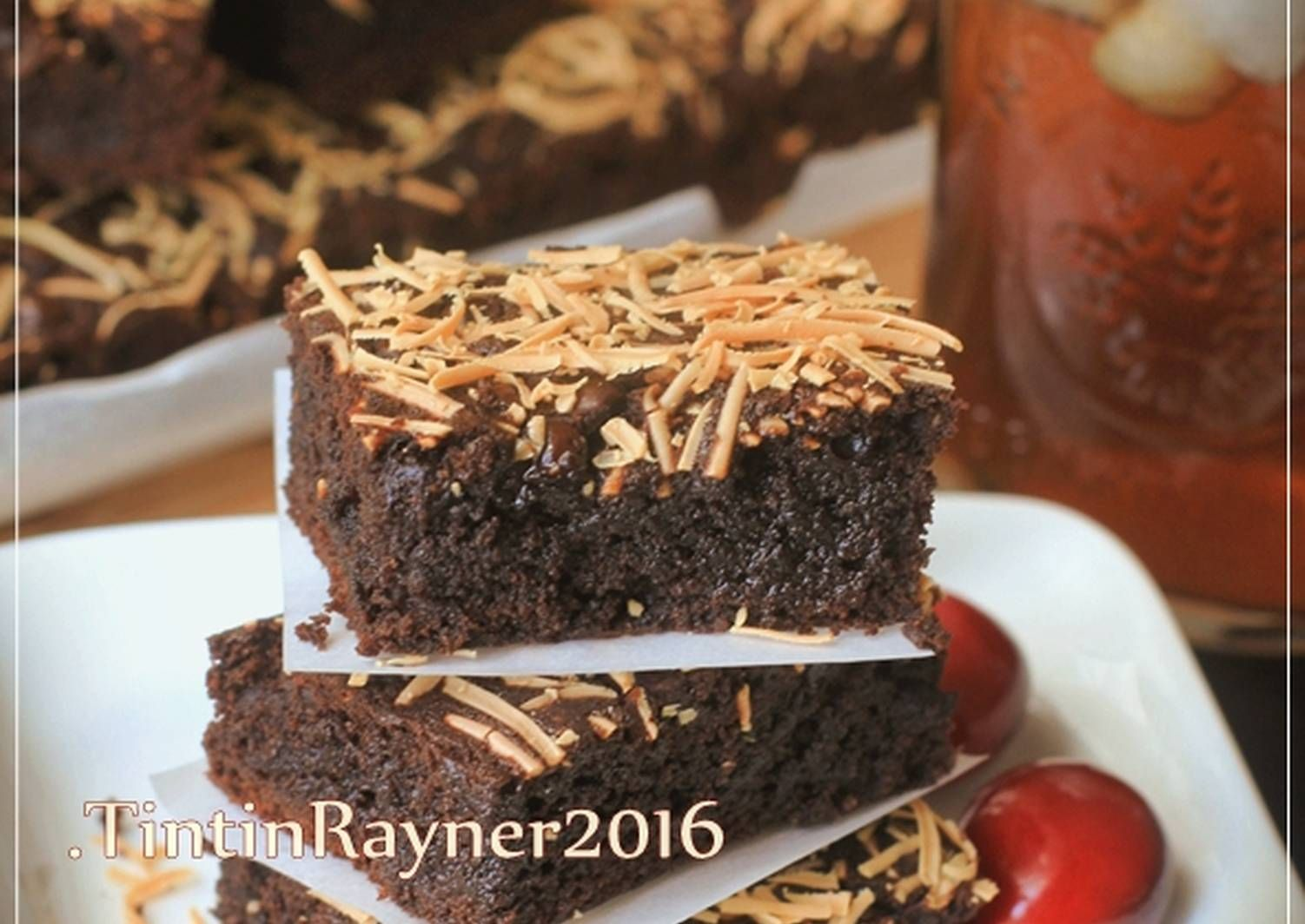 Resep Brownies Cokelat Moist Yummy No Bp Soda Kue Oleh Tintin Rayner Resep Fudge Brownies Brownies Cokelat Cokelat