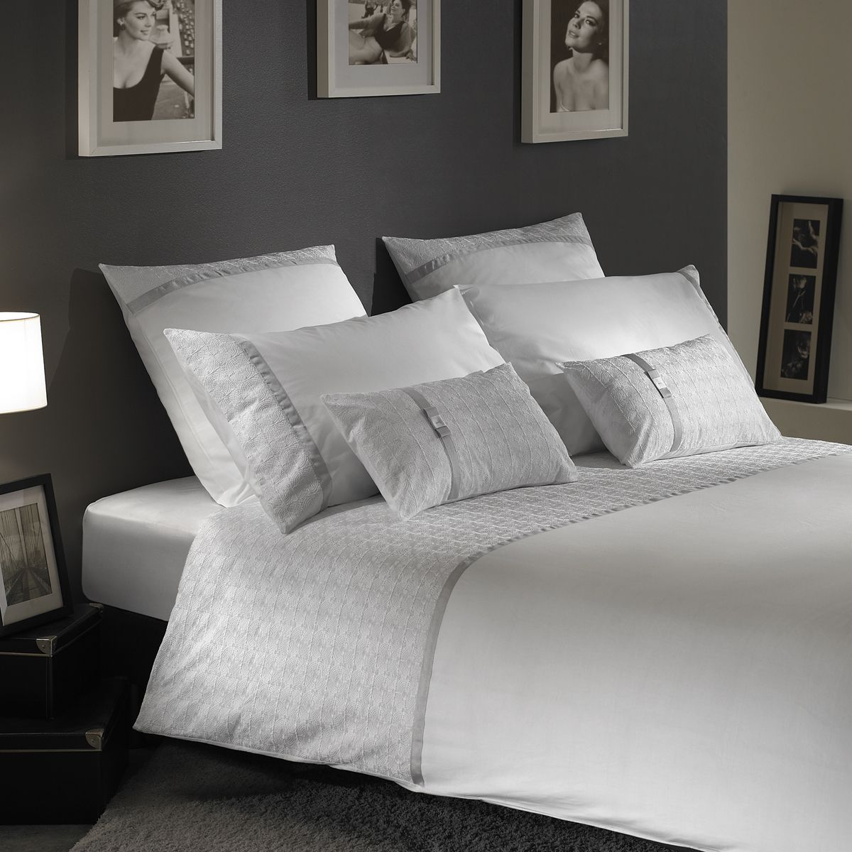 parure nataly w brod blanc percale nathaliewood n ud. Black Bedroom Furniture Sets. Home Design Ideas