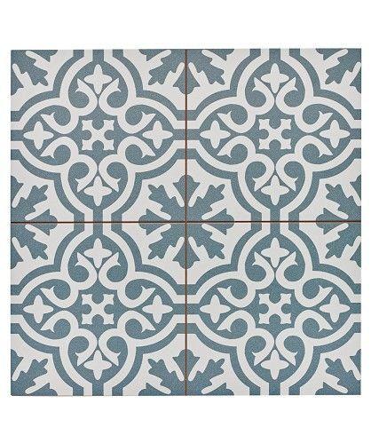 Topps Tiles. Family Floor? Bring pattern in there? Berkeley Slate Blue Tile