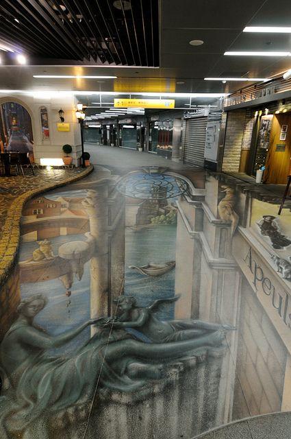 3D street painting, Kaohsiung Metro #Taiwan