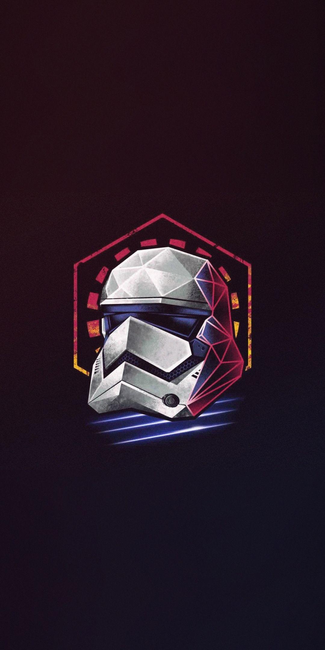 Minimal Star Wars Stormtrooper Helmet Artwork 1080x2160 Wallpaper Star Wars Art Star Wars Wallpaper Star Wars Images
