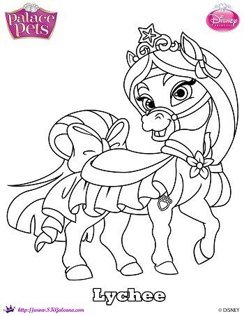 Disney Princess Palace Pet Coloring Page Of Mulan S Pony Lychee