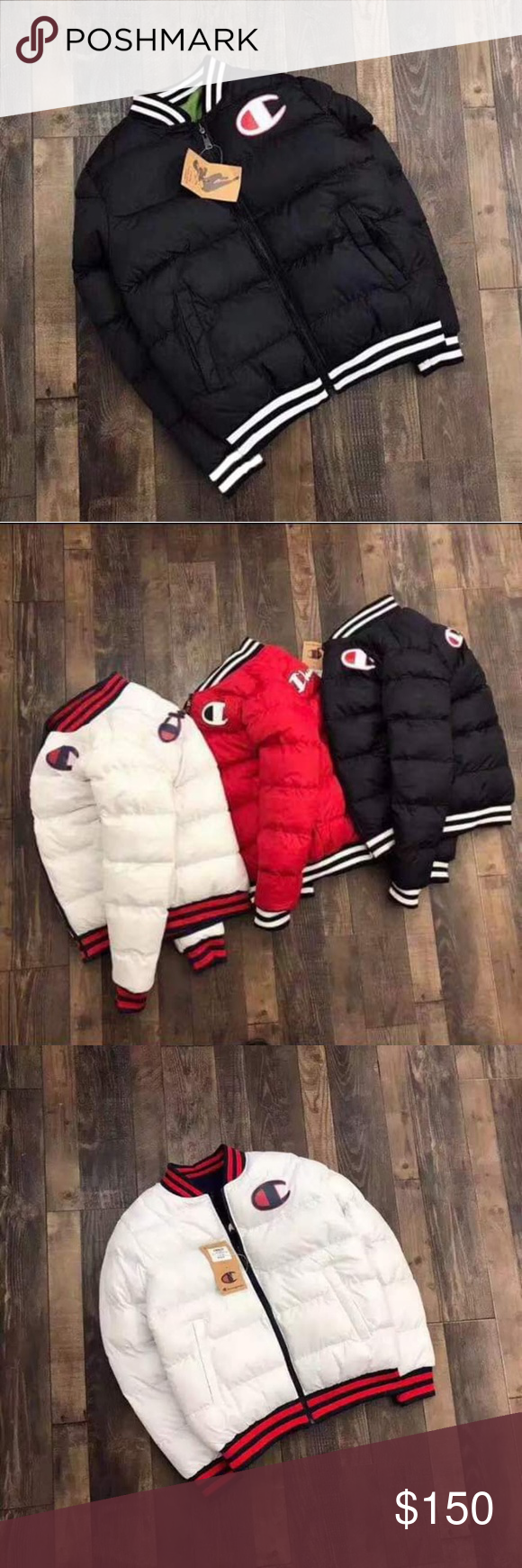 Champion Puffer Coat Champion Puffer Coat Sizes Small To 2xl Comes In Colors Black Red Or White Champion Jackets Coats P Puffer Coat Champion Jacket Coat [ 1740 x 580 Pixel ]