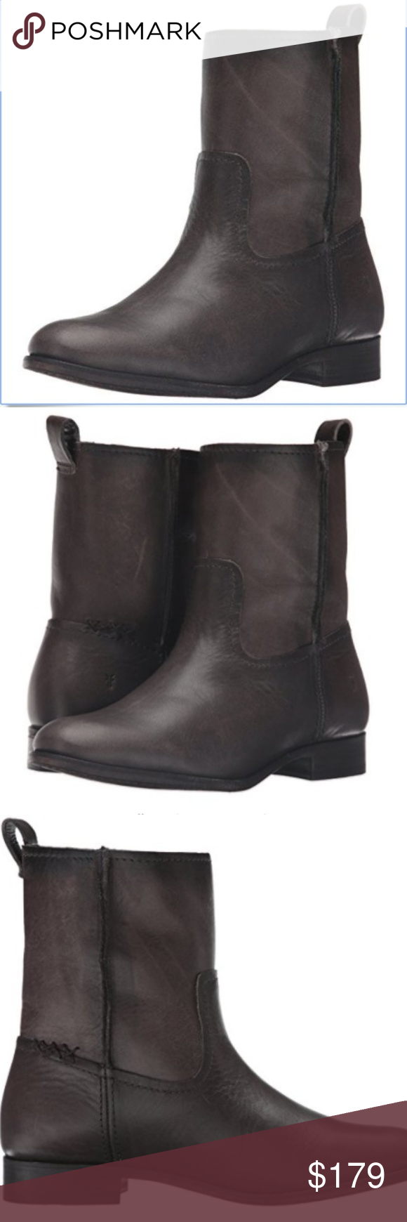 775f9f61ad6 FRYE Women's Cara Short Leather Boot Smoke NWT | Ankle boots, Sole ...