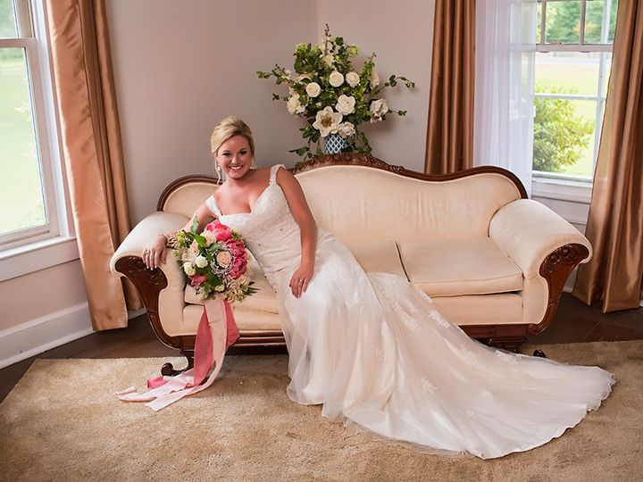 beautiful bride Melissa in her lace sheath wedding dress by Sophia Tolli ~ we ❤ this! moncheribridals.com