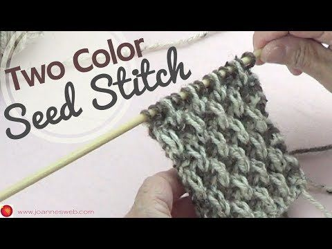 Two Color Seed Stitch Two Tone Knitting 2 Color Knit Stitches