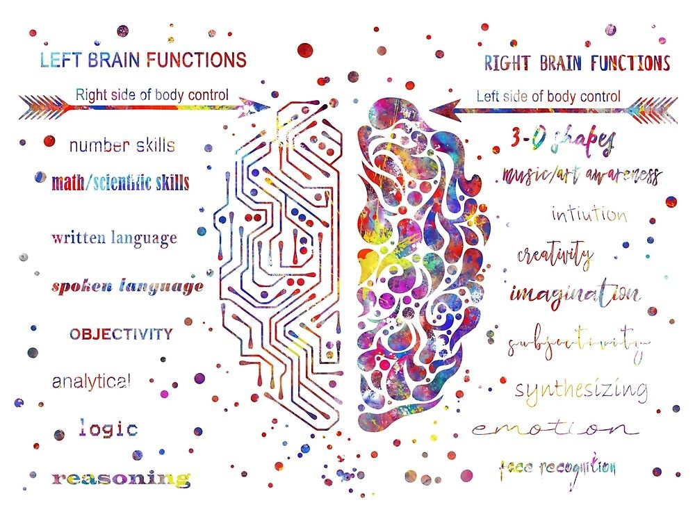 """""""Left and right brain function"""" by Rosaliartbook ..."""