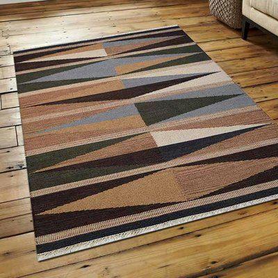 World Menagerie Annabella Kilim Handwoven Flatweave Wool Brown Cream Green Area Rug Rug Size Rectangle 10 X 16 Rugs Kilim Woven Area Rugs