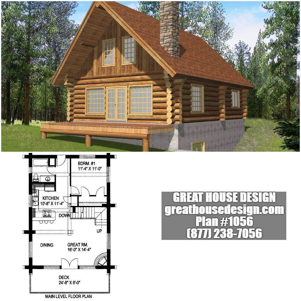 Log House Plan 1056 Toll Free 877 238 7056 Beautiful Cabins Great House Custom Home Plans