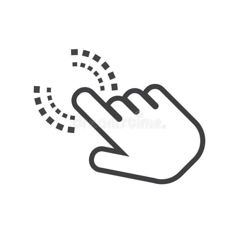 Click Hand Icon Cursor Finger Sign Flat Vector Illustration On White Backgroun Aff Cursor Finger Icon Click Logotipo De Youtube Logotipos Youtube