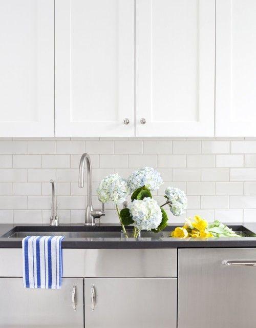 CWB Architects - kitchens - white, shaker, kitchen cabinets, black ...