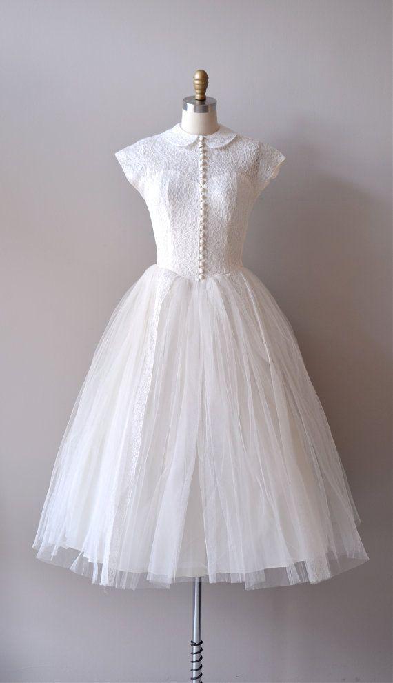 r e s e r v e d...lace 50s wedding dress / 1950s dress / If Fates ...