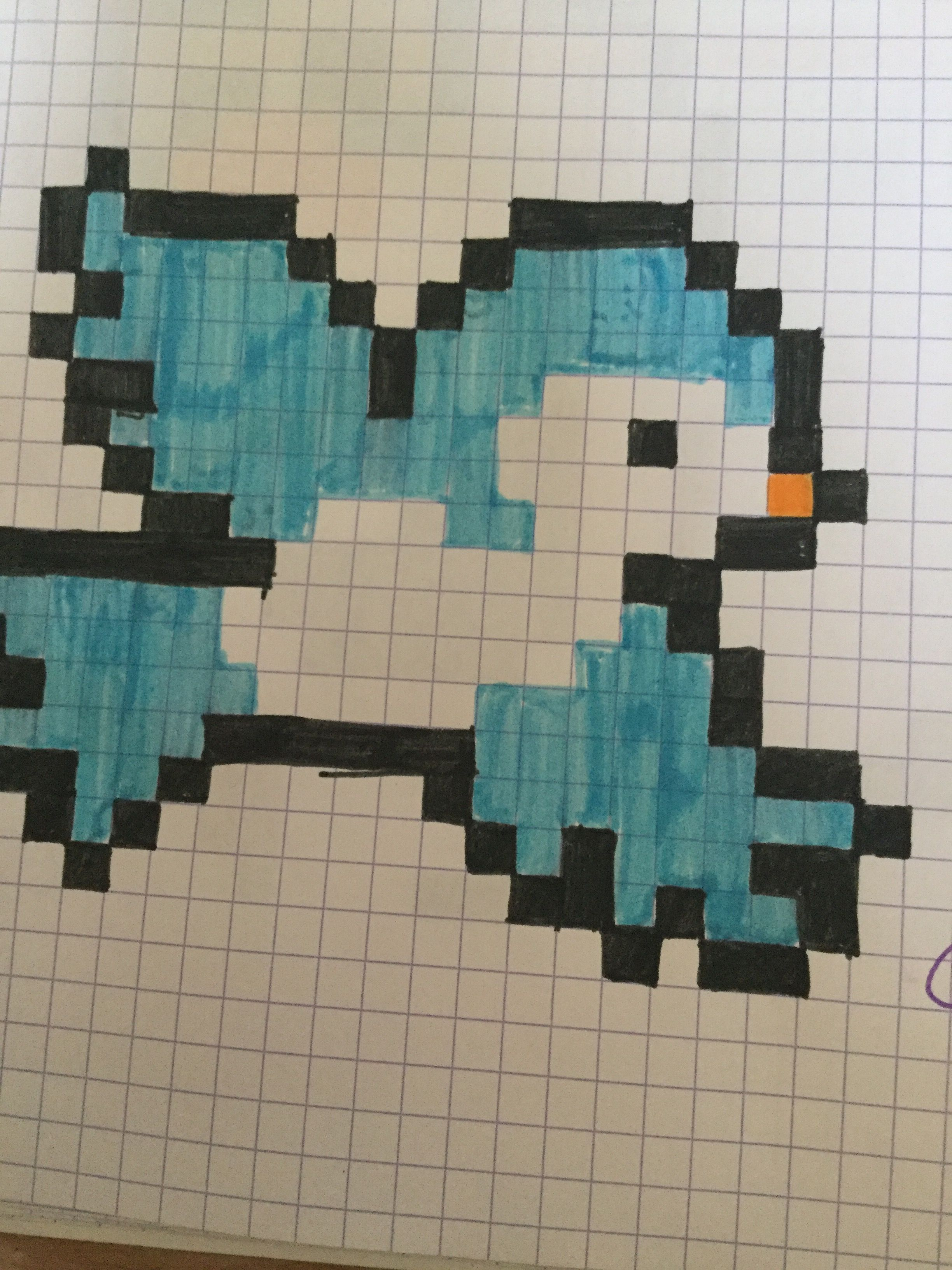 Oiseau bleu dessin pixel art art et bird patterns - Dessin facile oiseau ...