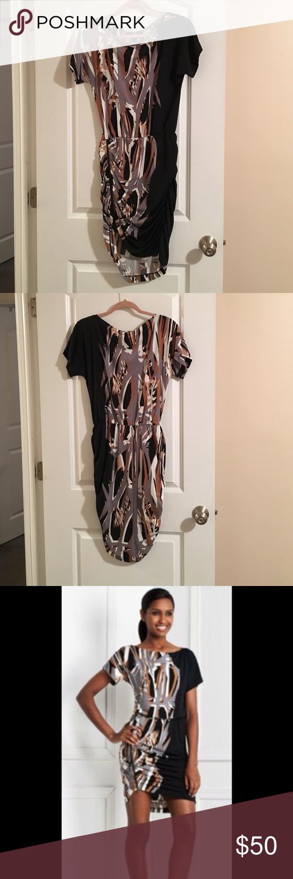 BCBG Zipper Detail Dress Ruched Matte Jersey Dress. Asymmetrical hem w zipper detailing. BCBGMaxAzria Dresses Mini