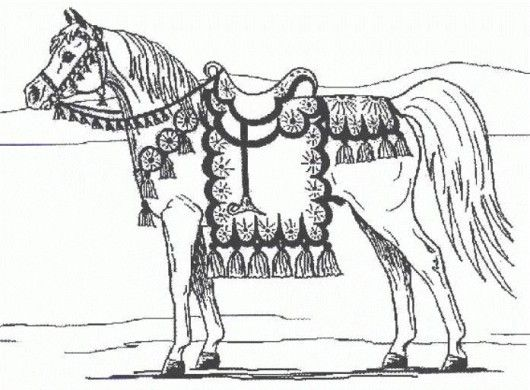 preschool horse coloring pages - photo#42