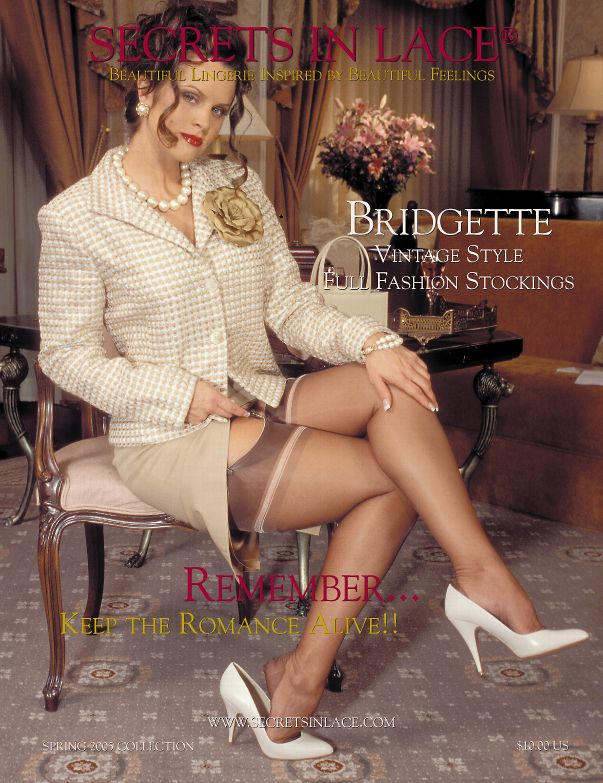 03516cf9ff6 Our Bridgette Fully Fashioned Stocking was the first new development with  contrast color in the underwelt.
