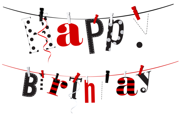 happy birthday streamer transparent png clip art image