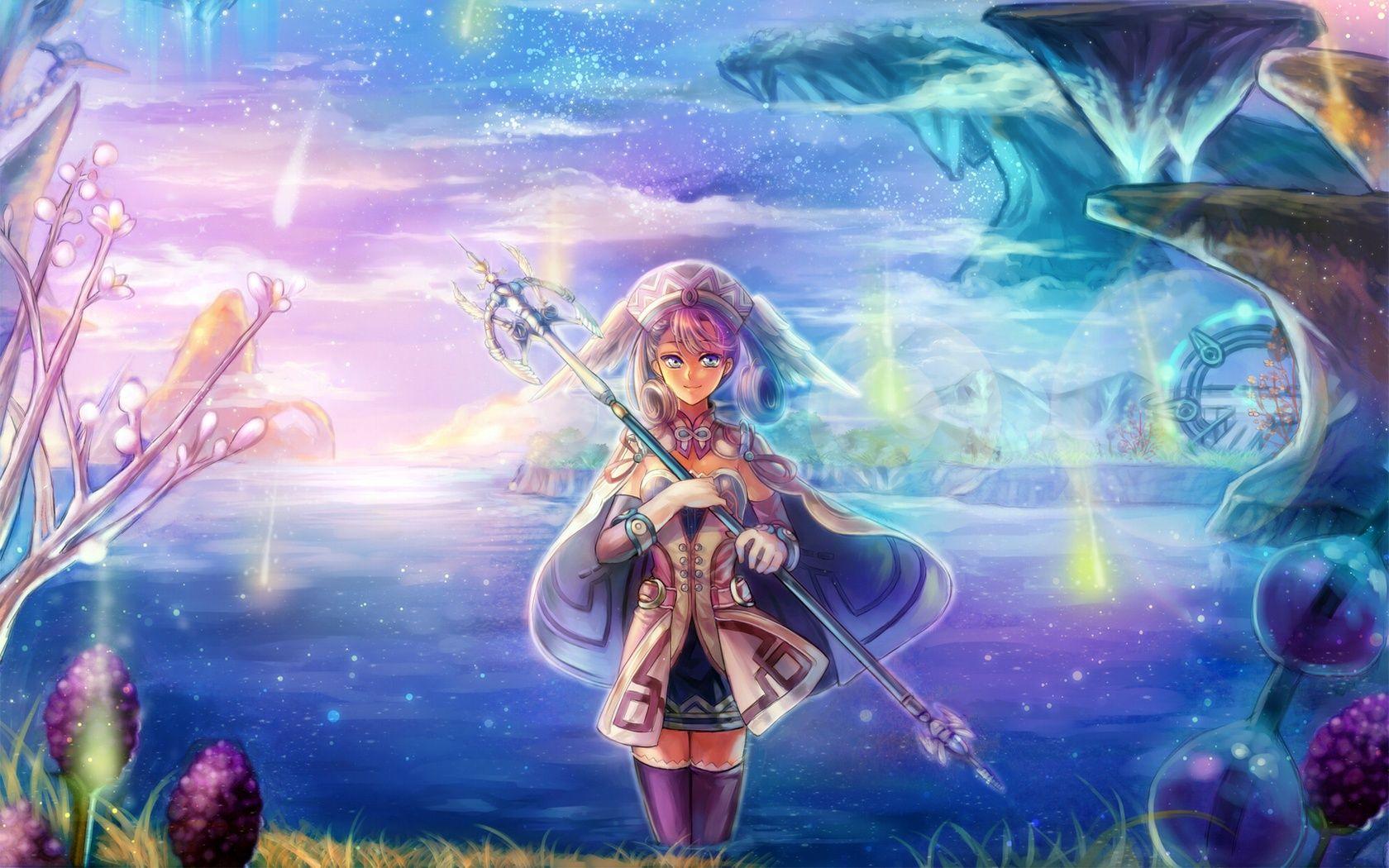 Melia Antiqua, anime, blue, fantasy, game, girl, melia ...