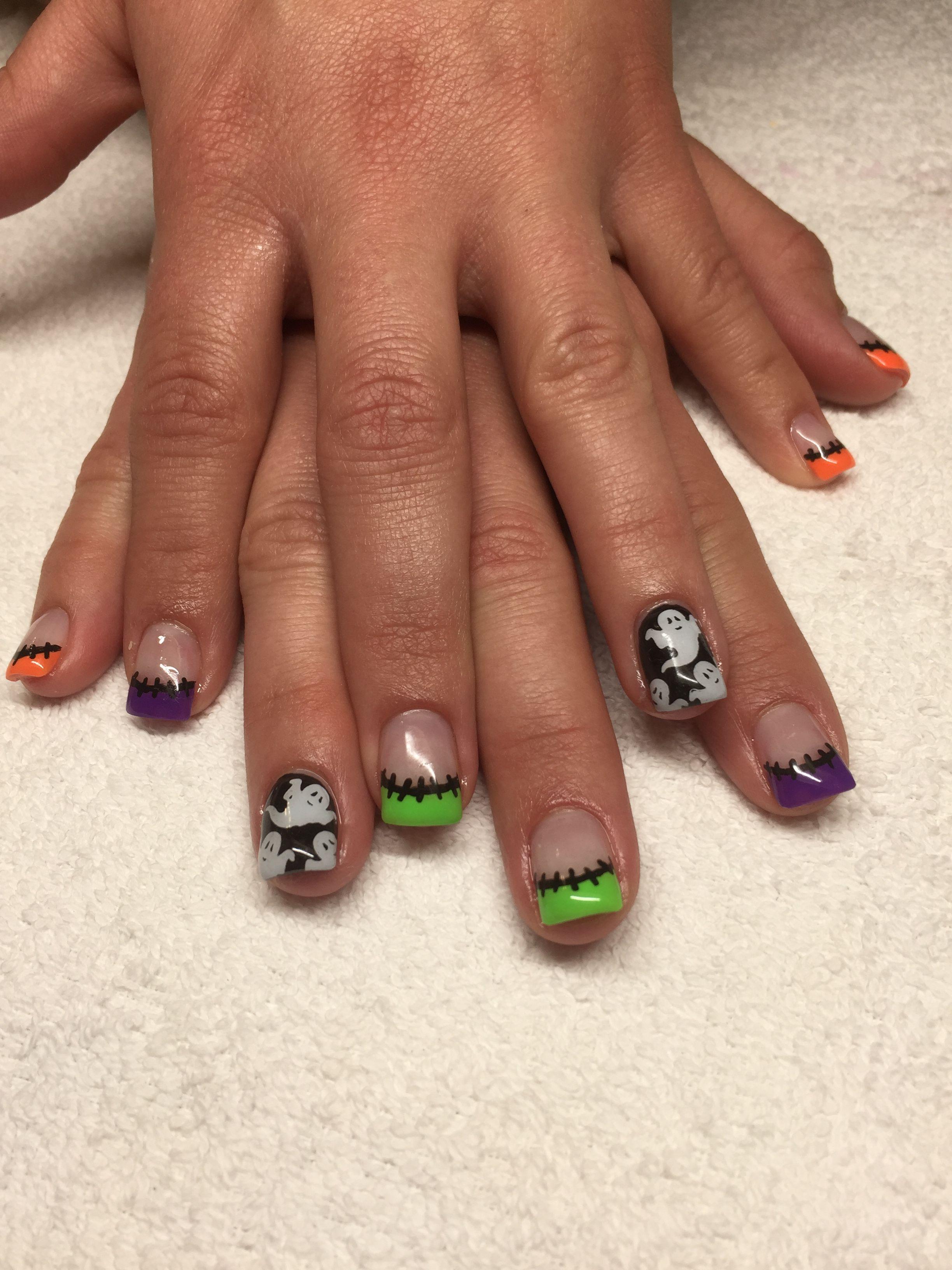 Halloween Gel Nails Mountain Prairie Nail Designs Fun Nail Ideas