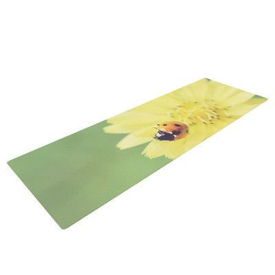 KESS InHouse Little Lady by Beth Engel Ladybug Yoga Mat   Wayfair