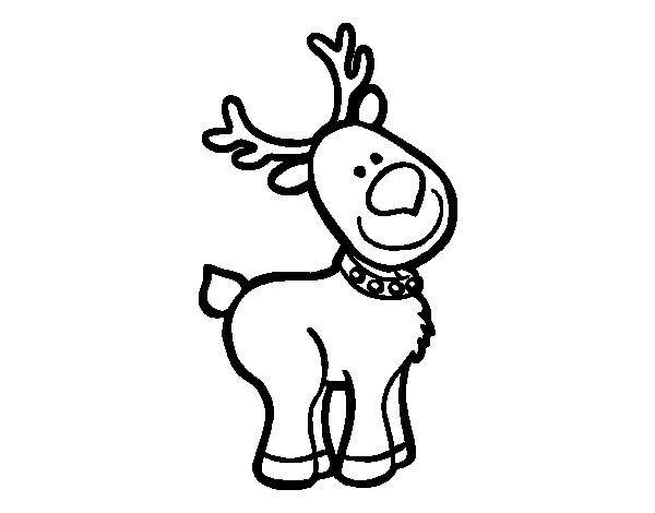 Dibujo de Un reno Navideo para Colorear | Dibujos de ...