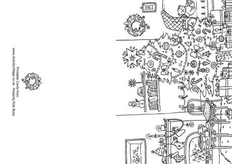 Christmas Colouring Card Room Coloring Pages Pinterest - Christmas card templates to color