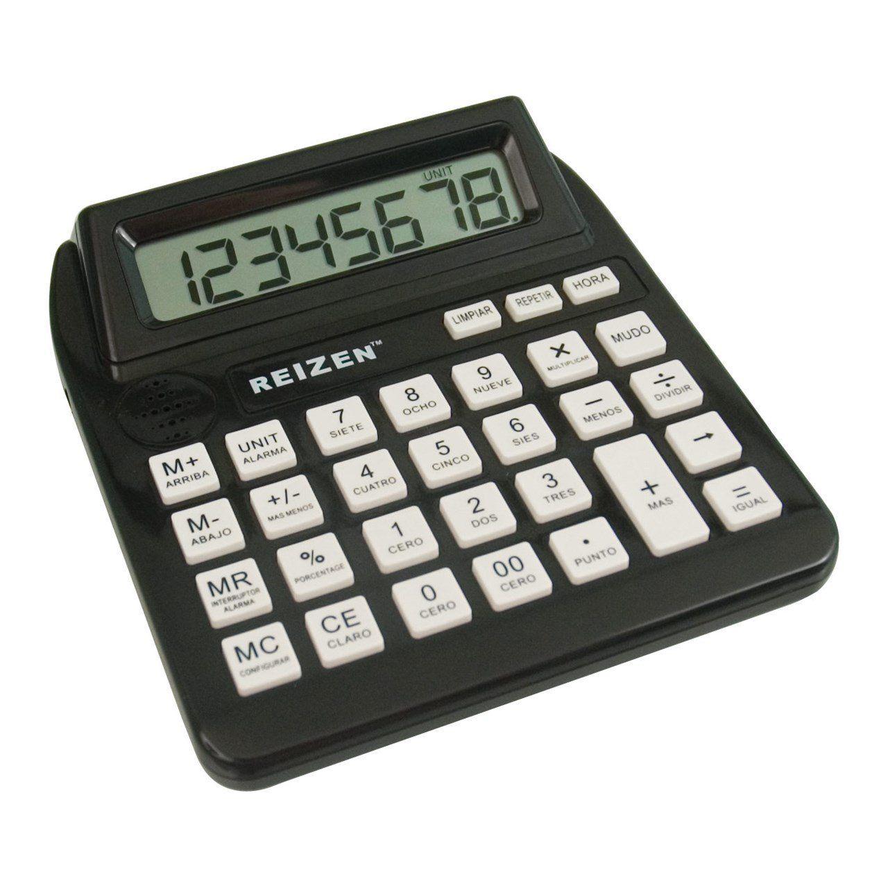 Reizen Talking Calculator with Repeat Key Spanish