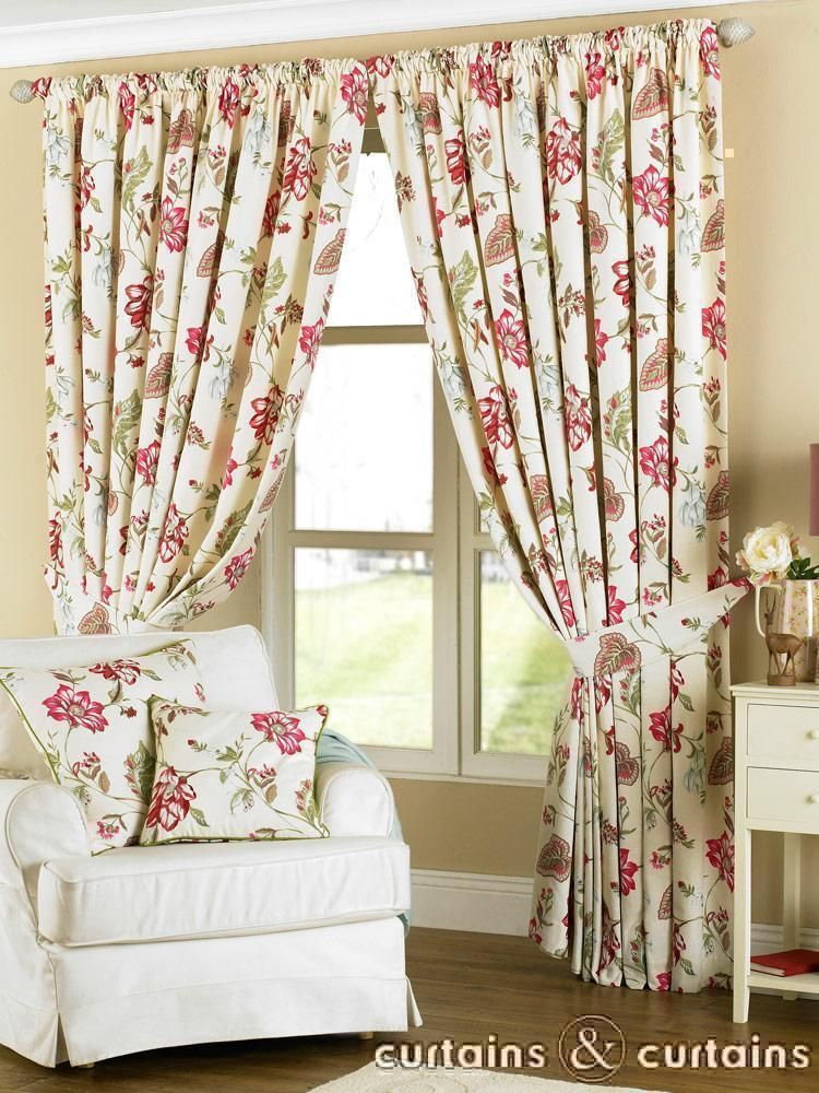 Louise Cream U0026 Fuchsia #vintage #floral Curtains