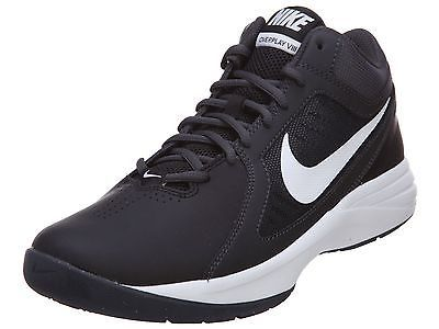 ac154266f485 Nike The Overplay VIII Mens 637382-012 Black Grey Basketball Shoes Size 11