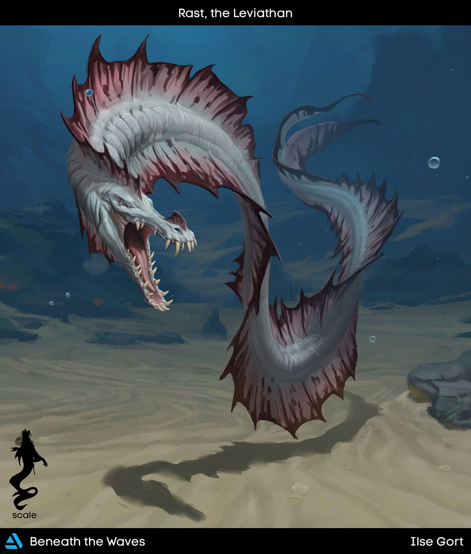 ArtStation - Beneath the Waves: Creatures, Ilse Gort | Sea ...