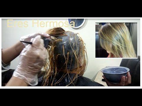 Como hacer mechas con gorro pelo corto
