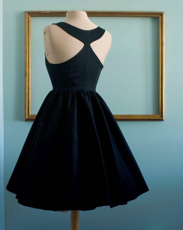 Audrey hepburn breakfast at tiffany\'s black dress vintage inspired ...