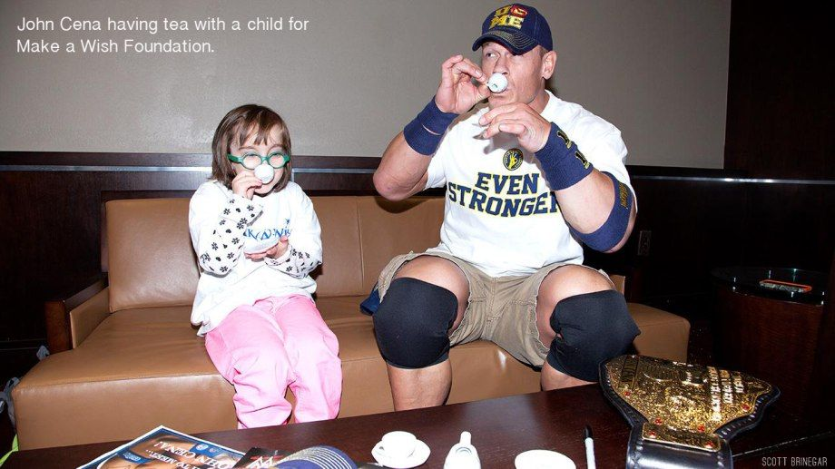 John Cena having tea with a little girl. RESPECT.